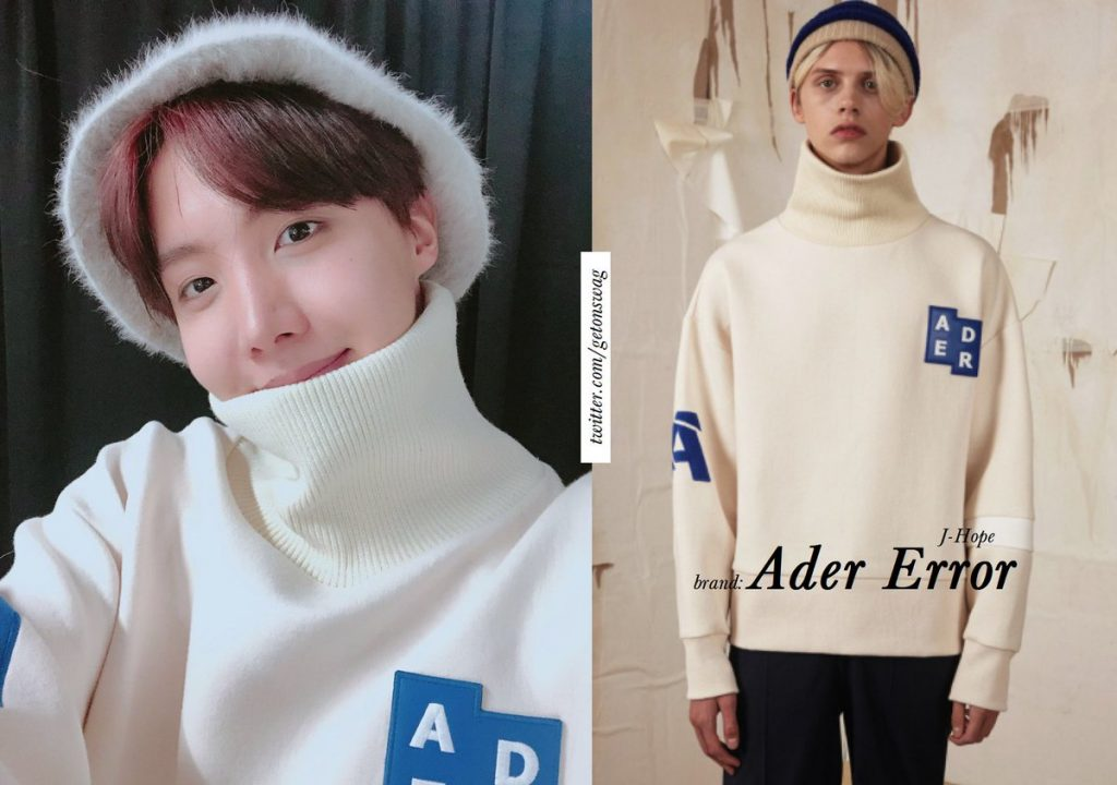 J-Hope (BTS) wearing ADER Error