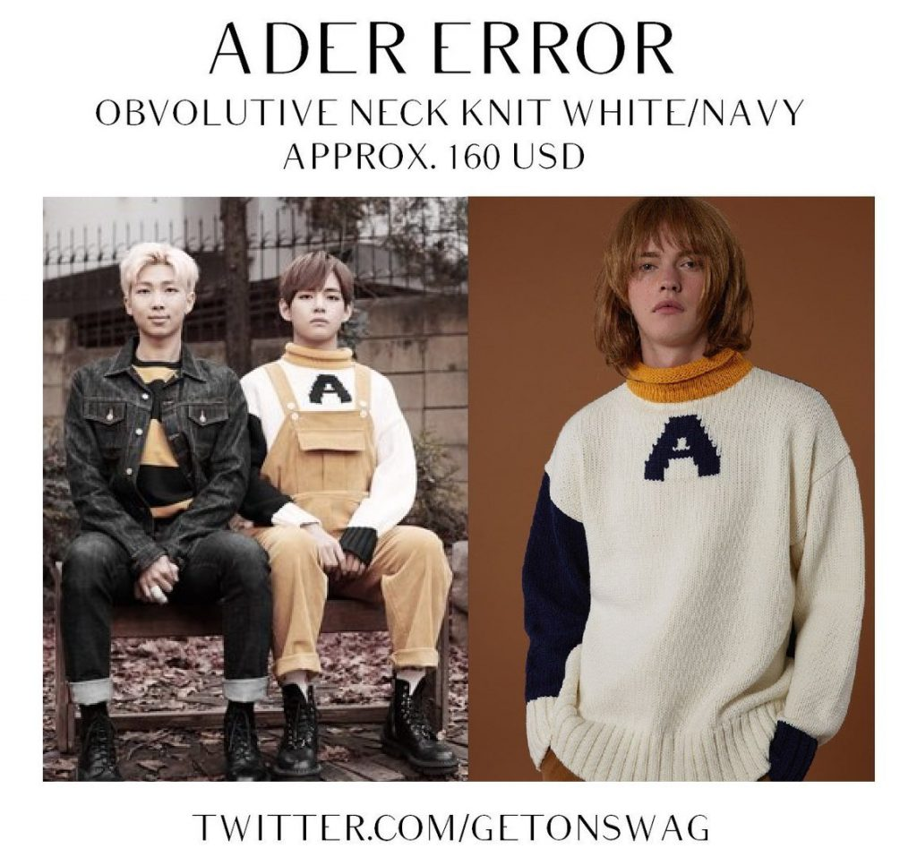 V (BTS) wearing ADER Error